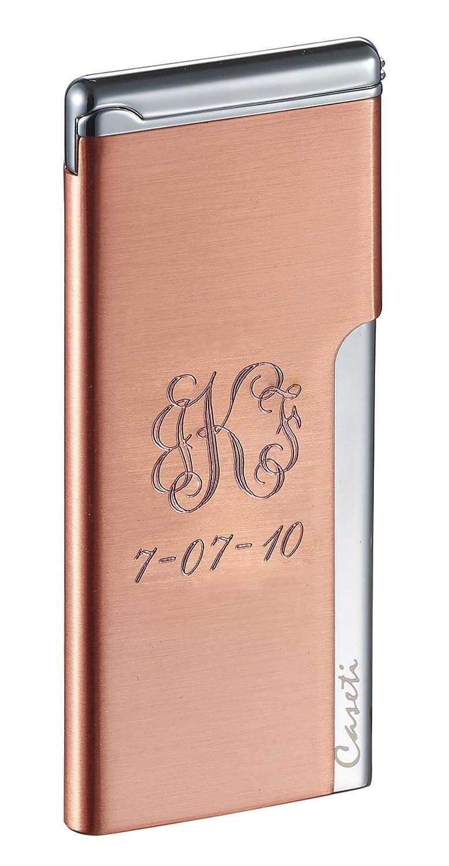 Amazon.com: Personalized Caseti Elegante Ultra-Slim Cigarette Lighter, Flat Torch Flame: Health & Personal Care