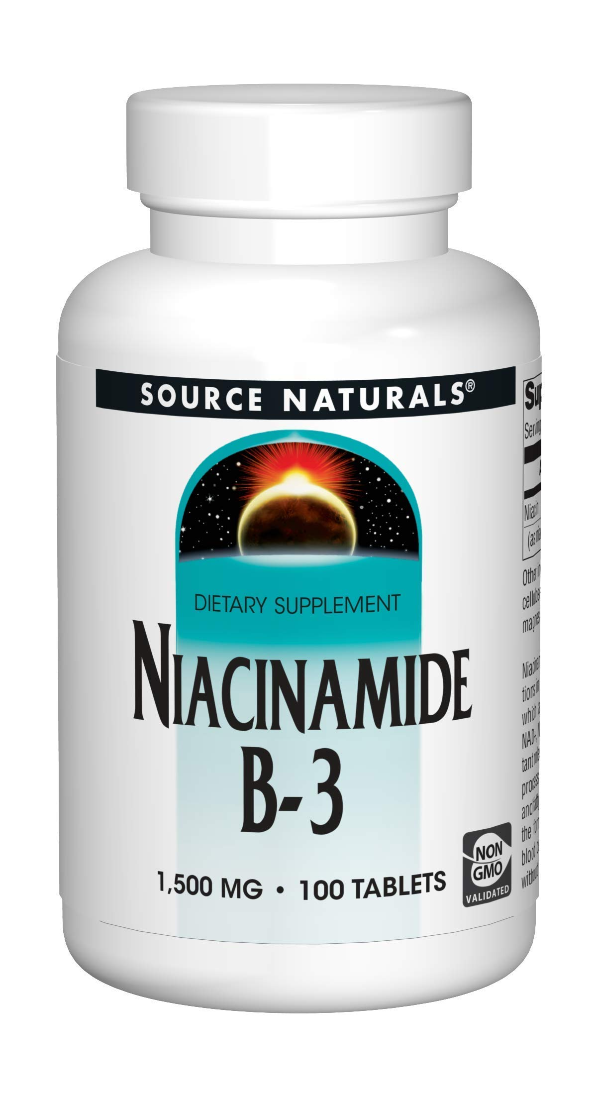 Source Naturals Niacinamide B-3, 1500 mg Dietary Supplement - 100 Tablets