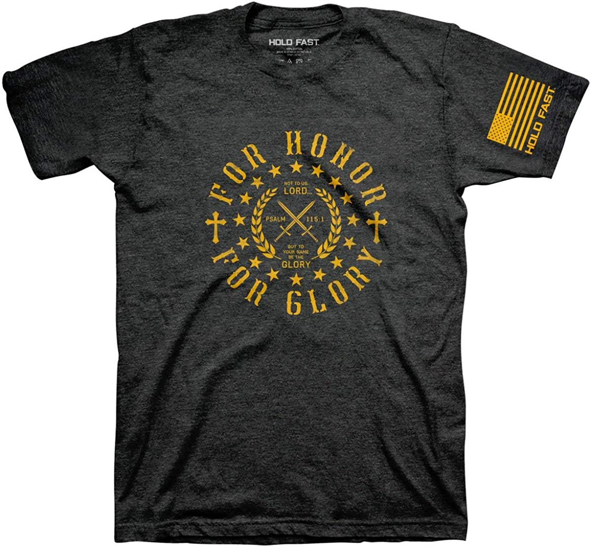 Kerusso Hold Fast Men's Honor and Glory T-Shirt - Dark Grey -