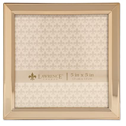 Amazon.com - Lawrence Frames 5x5 Gold Metal Classic Bevel Picture ...