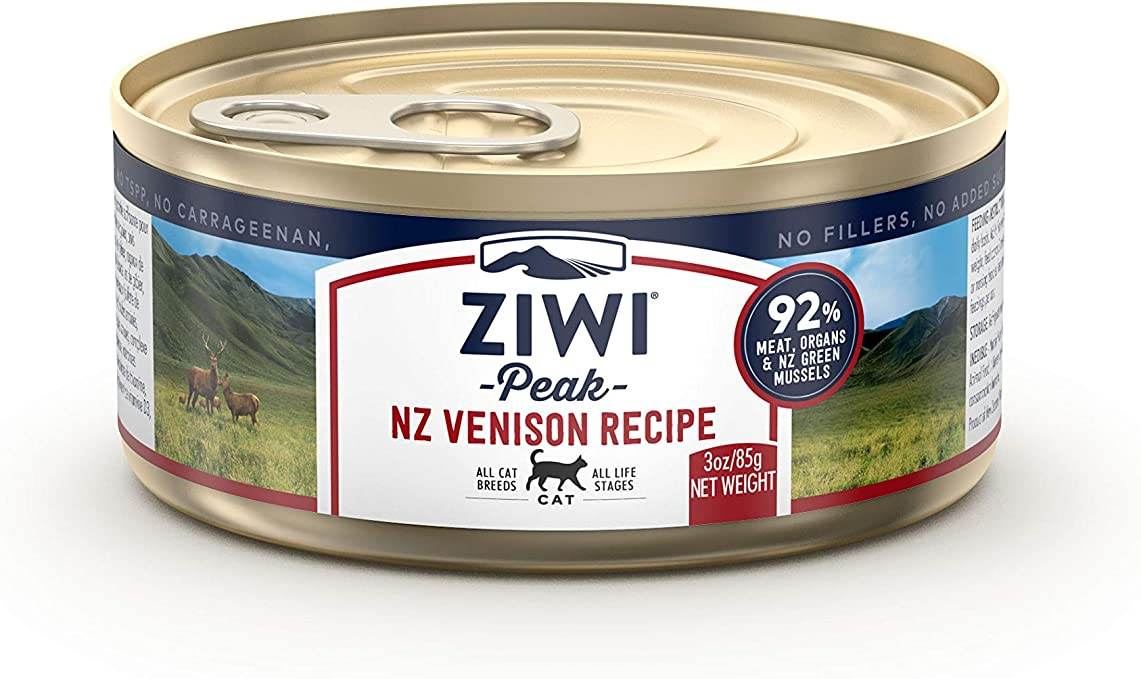 Ziwi Peak Alimento Húmedo para Gato, Sabor Venado - 24 latas de 85 ...