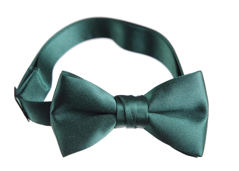 Tuxedo Park Boys Deluxe Satin Bow Tie Tuxedo Solid Caribbean Blue