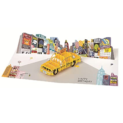 Amazon Happy Birthday Laser Cut New York City Pop Up Greeting
