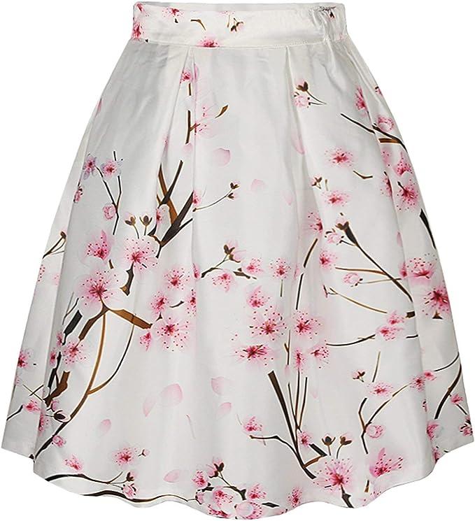 Falda Damas A Líneas Retro Faldas Plisadas Elegantes Faldas De ...