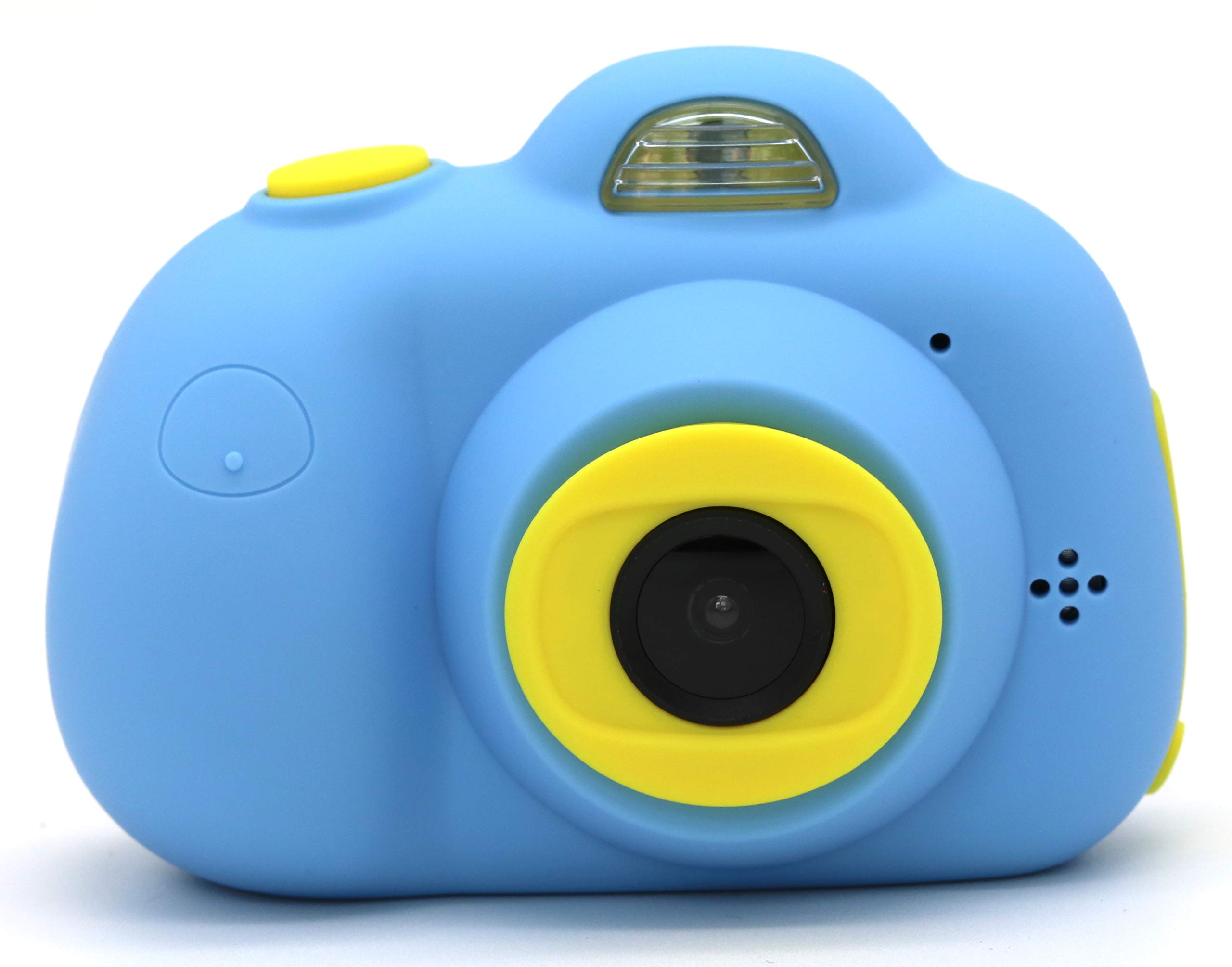 YOYOCOCO Camera for Kids,Film Camera Selfie Camera with Soft Silicone Shell for Outdoor Play,Kids Camera Toy Camera for 3-10 Year Old Girls and Boys(16GB TF Card Included)(Blue)
