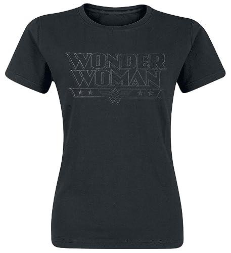 Wonder Woman Black Logo Maglia donna nero M