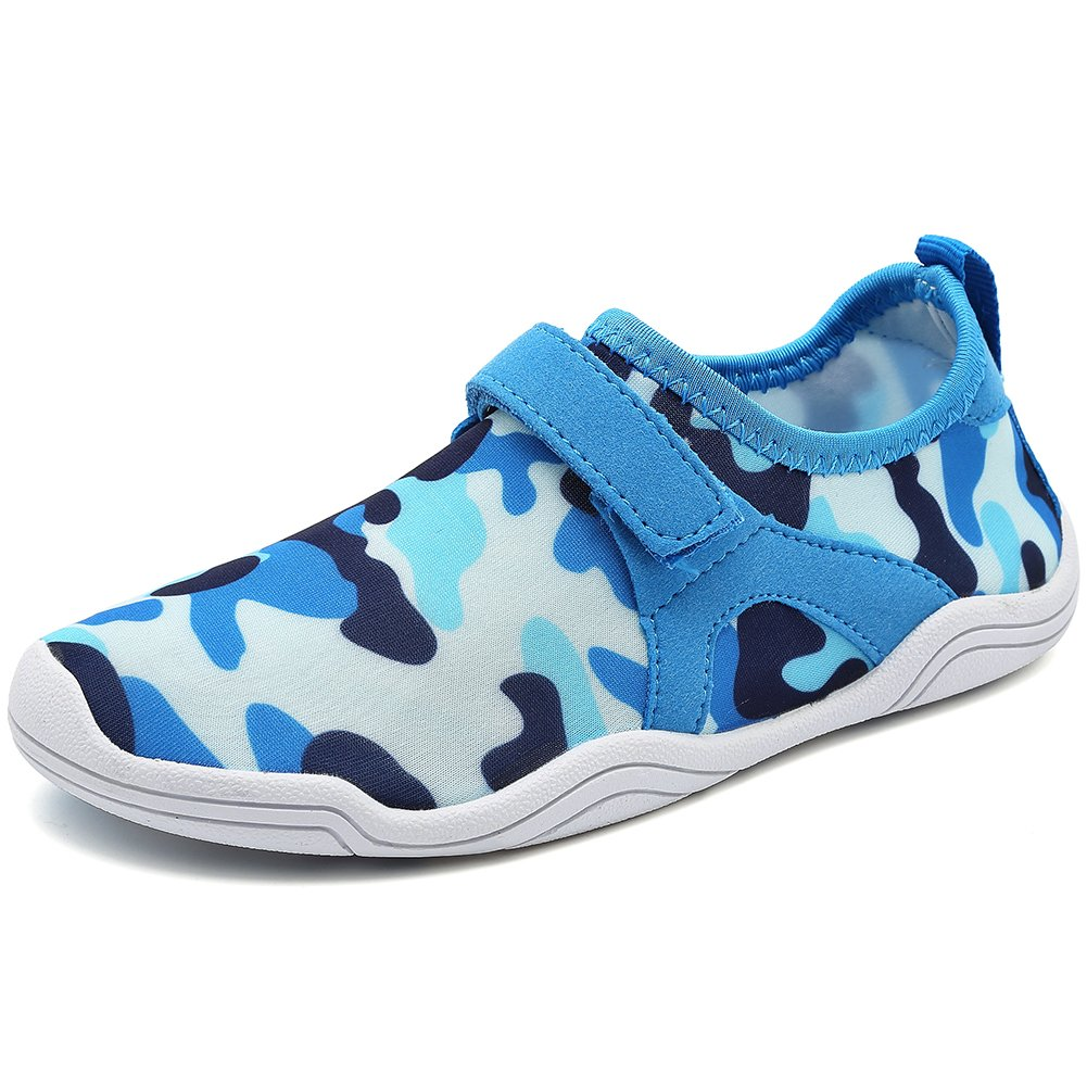 Fantiny Boys & Girls Water Shoes Lightweight Comfort Sole Easy Walking Athletic Slip on Aqua Sock(Toddler/Little Kid/Big Kid) Driving m.blue-30