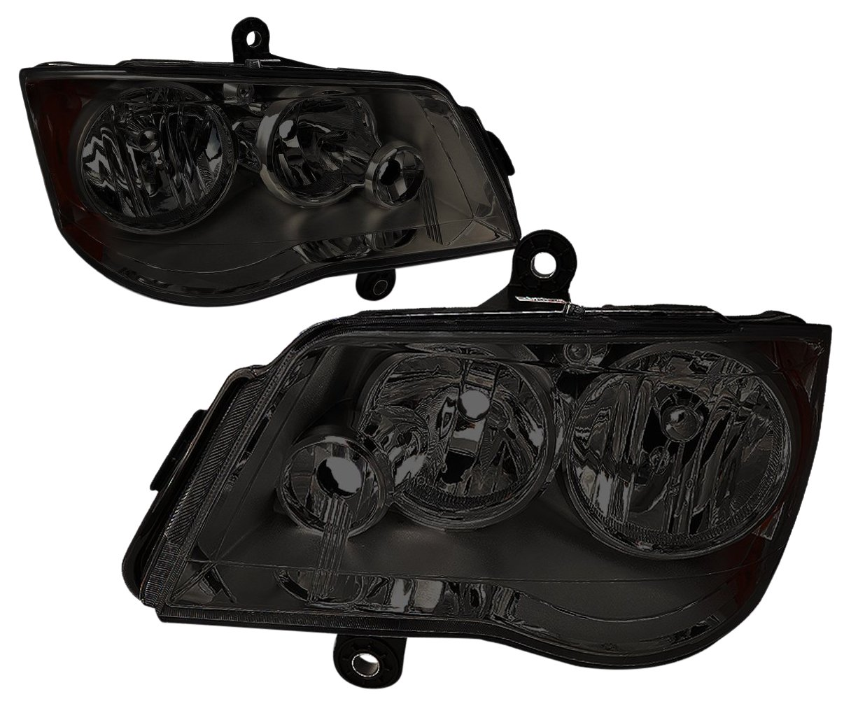 Driver And Passenger Side DNA MOTORING HL-OH-012-SM-AM Headlight Assembly