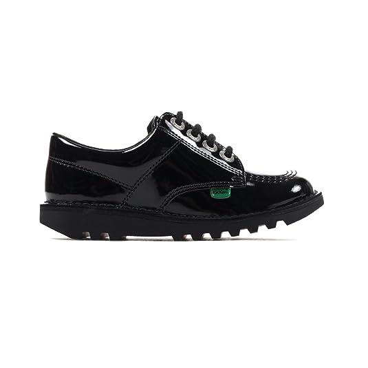 136cef65 Kickers Clásico patada LO Cuero Charol Junior Niñas Calzado Escolar Negro -  Negro, 12.5 UK: Amazon.es: Zapatos y complementos