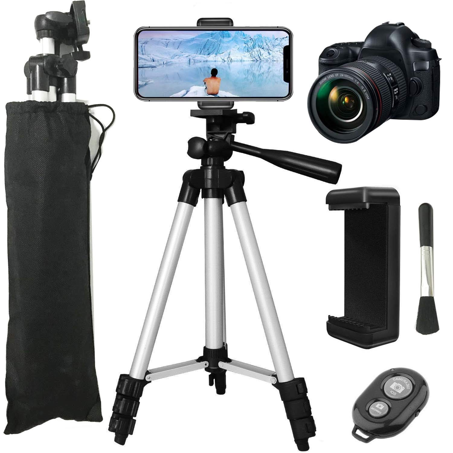 LONK Tripod 42' Phone Camera Tripod Lightweight Aluminum with Smartphone Holder, Camera Mount and Remote Control Shutter Compatible for iPhone Xs/X 8 7 6S Plus for Samsung Galaxy S8 S8 Plus S7 LG and Camera LONK TECH