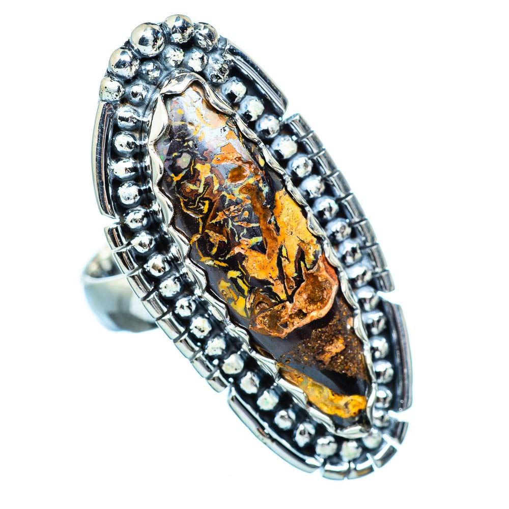 - Handmade Jewelry 925 Sterling Silver Bohemian Ana Silver Co Large Boulder Opal 925 Sterling Silver Ring Size 7.25 Vintage RING948619
