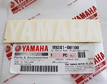Ganz Neu 100 Original Yamaha Abziehbild Logo Logo 100mm X 23mm Weiß Selbstklebend Motorrad Jet Ski Atv Schneemobil Auto