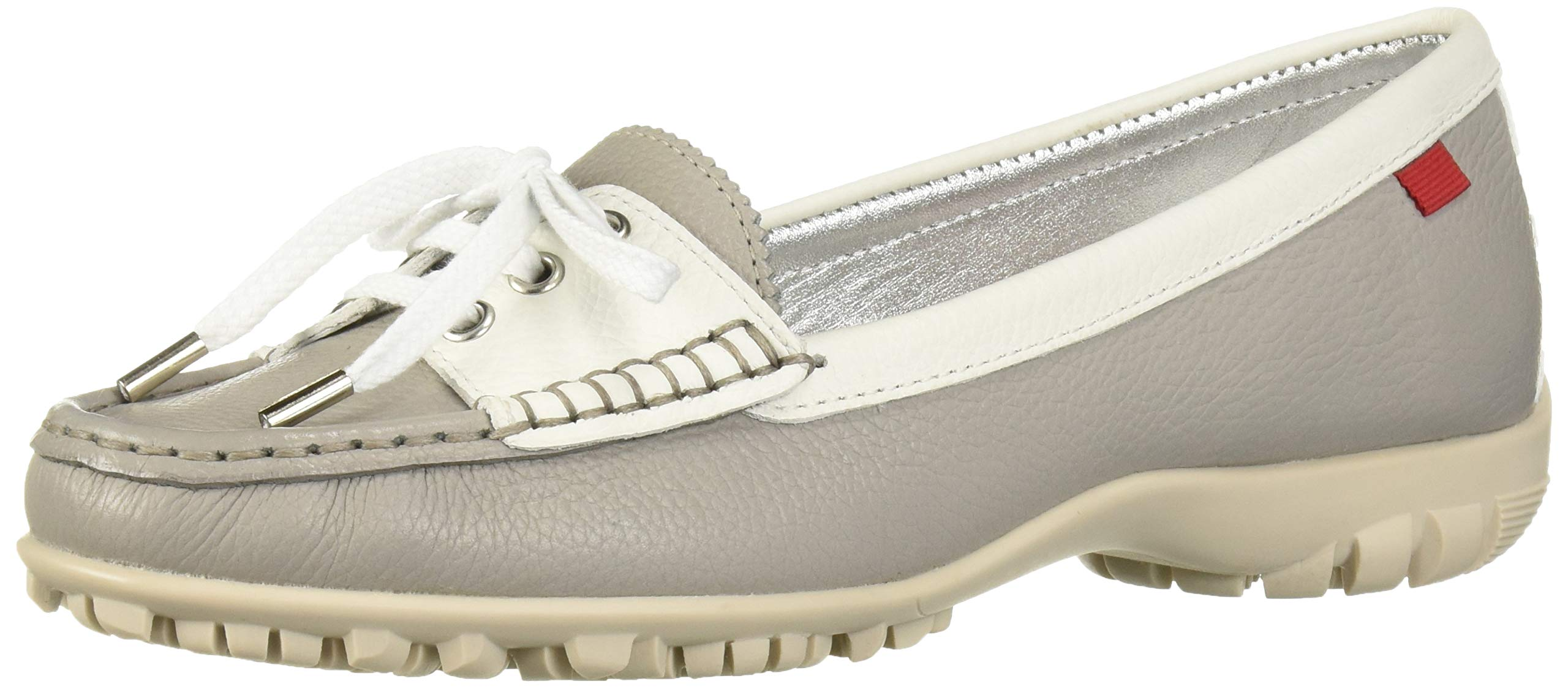 MARC JOSEPH NEW YORK Womens Leather Made in Brazil Liberty Golf Shoe, ash Grainy, 6 M US by MARC JOSEPH NEW YORK