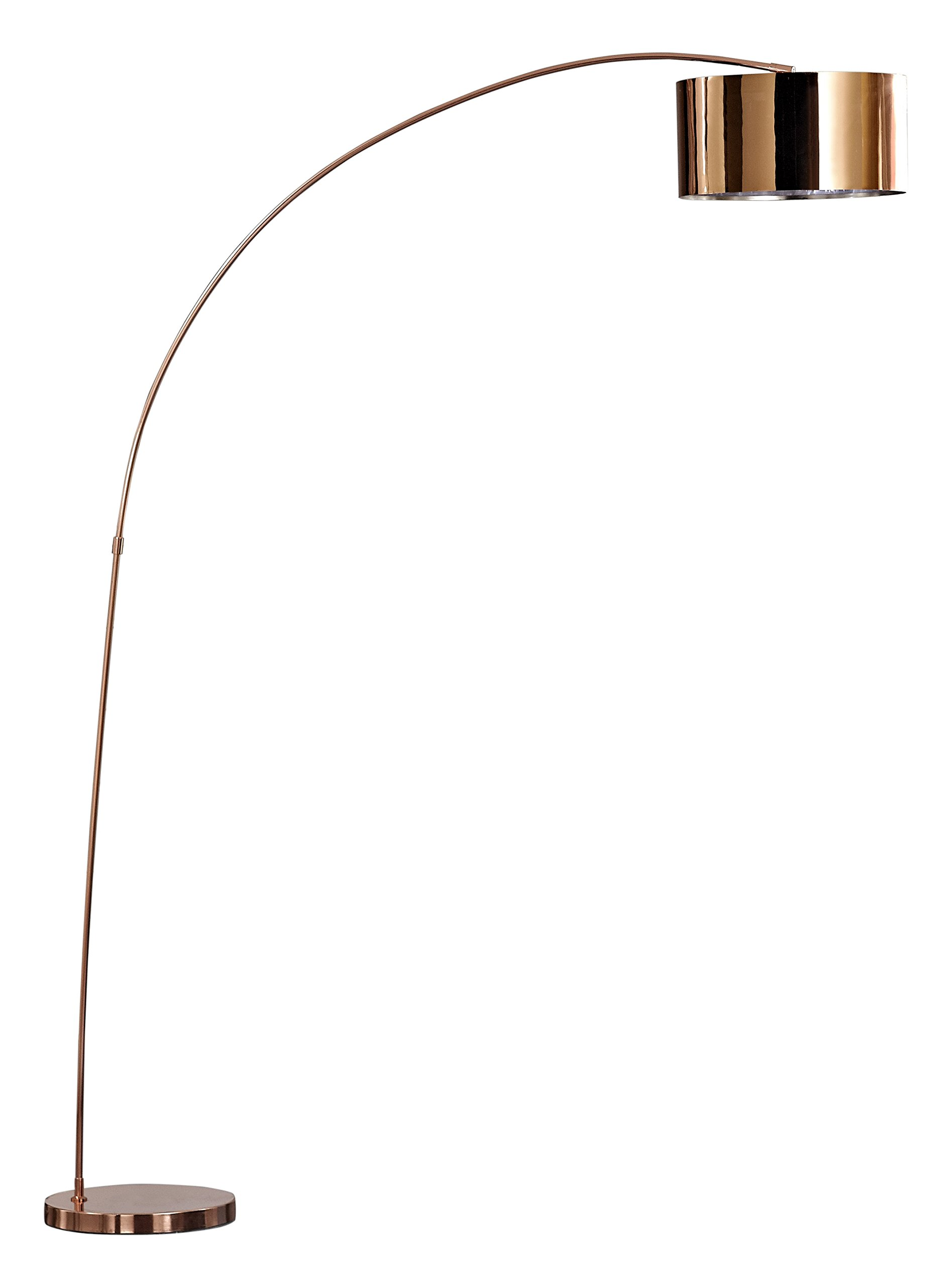 Artiva USA LED3939RC Modern Adelina Modern Led 81 inch Rose Copper Arched Floor Lamprose copper