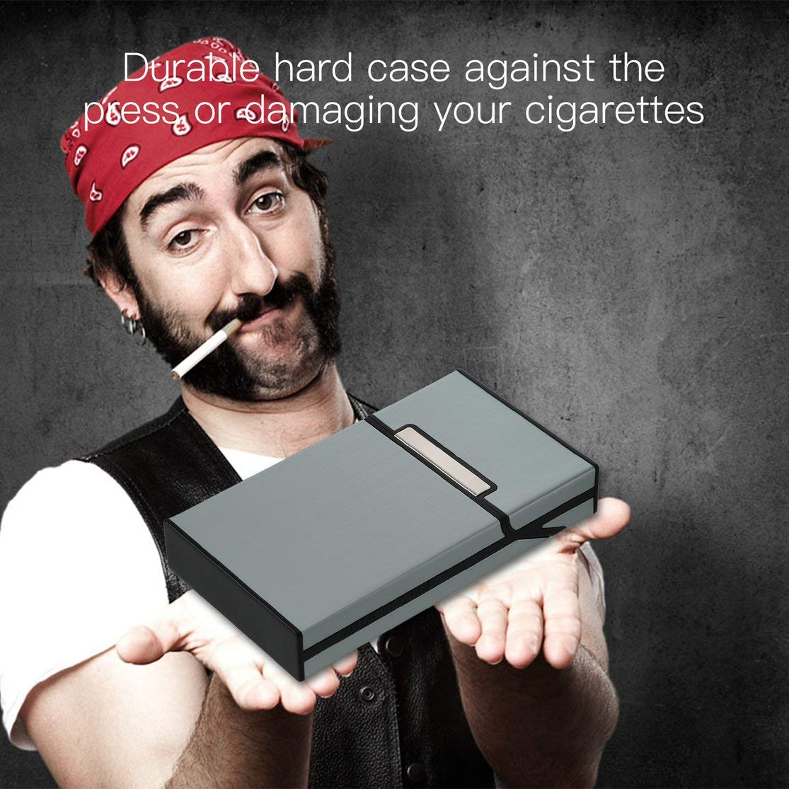LouiseEvel215 Ligero de Aleaci/ón de Alambre Dibujo Cigarro Estuche de Cigarrillos Titular de Tabaco Mini Caja Contenedor de Almacenamiento Accesorios para Fumar