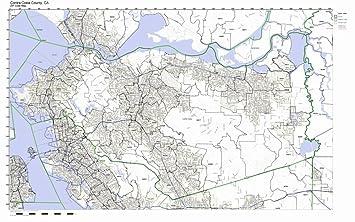 Amazoncom Contra Costa County California CA ZIP Code Map Not - Map of contra costa county ca