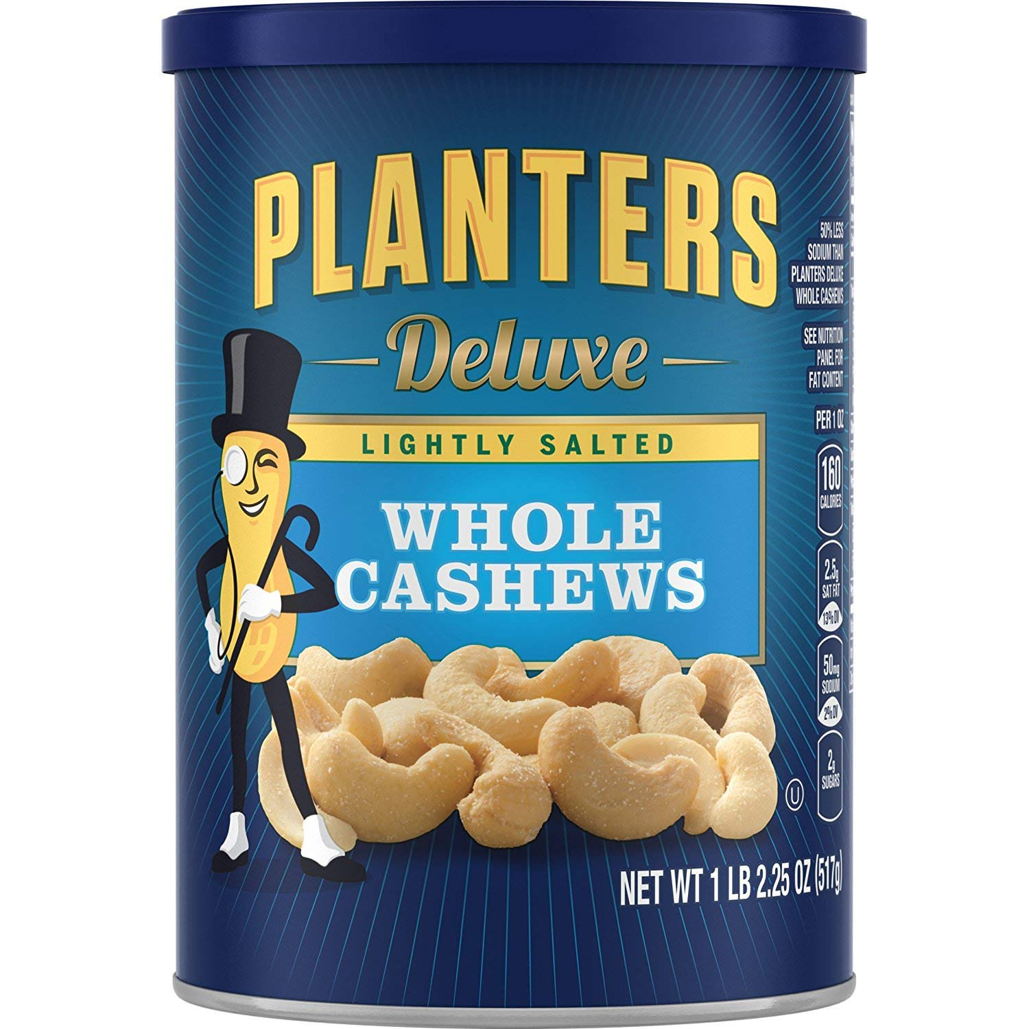 Planters Deluxe Whole Cashews Lightly Salted, 2 Tubs (1 lb 2.25 oz) by Planters (Image #1)