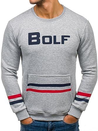 Herren Sweatshirt Langarmshirt Pullover Pulli Classic Rundhals BOLF 1A1 Motiv
