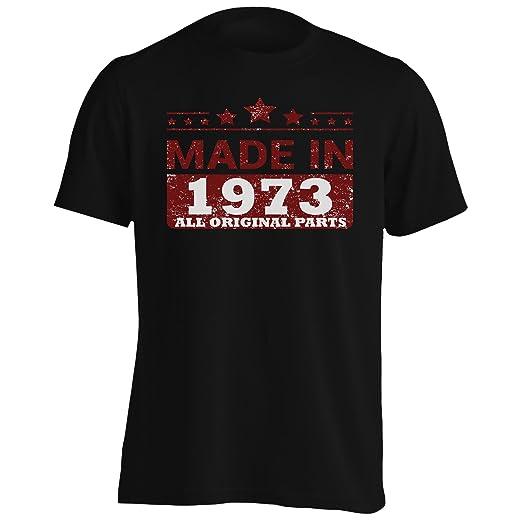 Hecho en 1973 Todas Las Piezas Originales Funny Novedad Camiseta de los Hombres jj69m