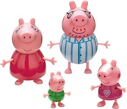 Peppa Pig - Pack 4 figuras Familia Pig Pijama: Amazon.es: Juguetes y juegos