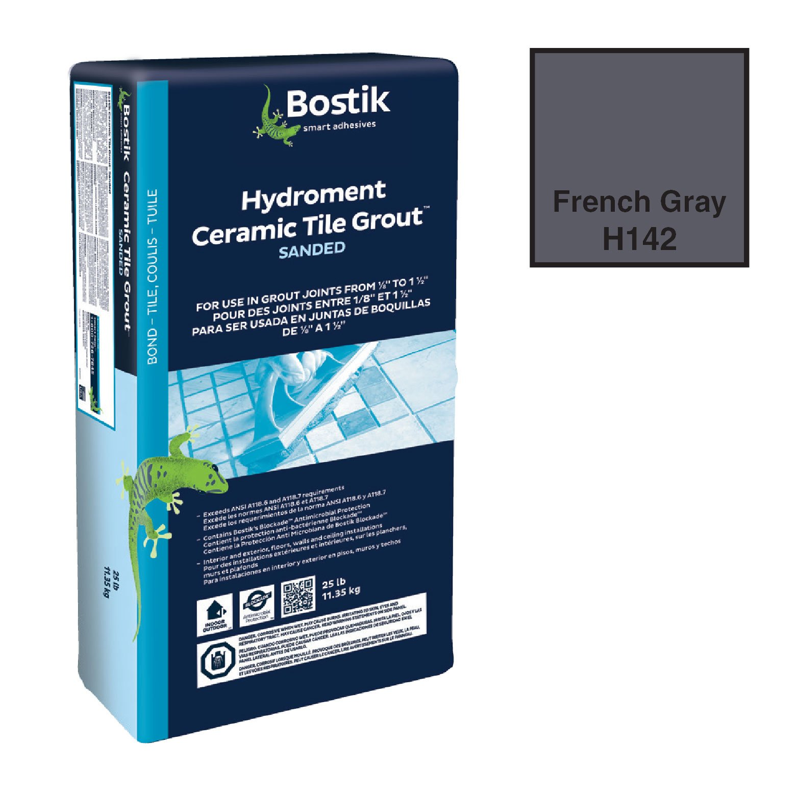 BOSTIK 25# DRY SANDED GROUT-FRENCH GRAY