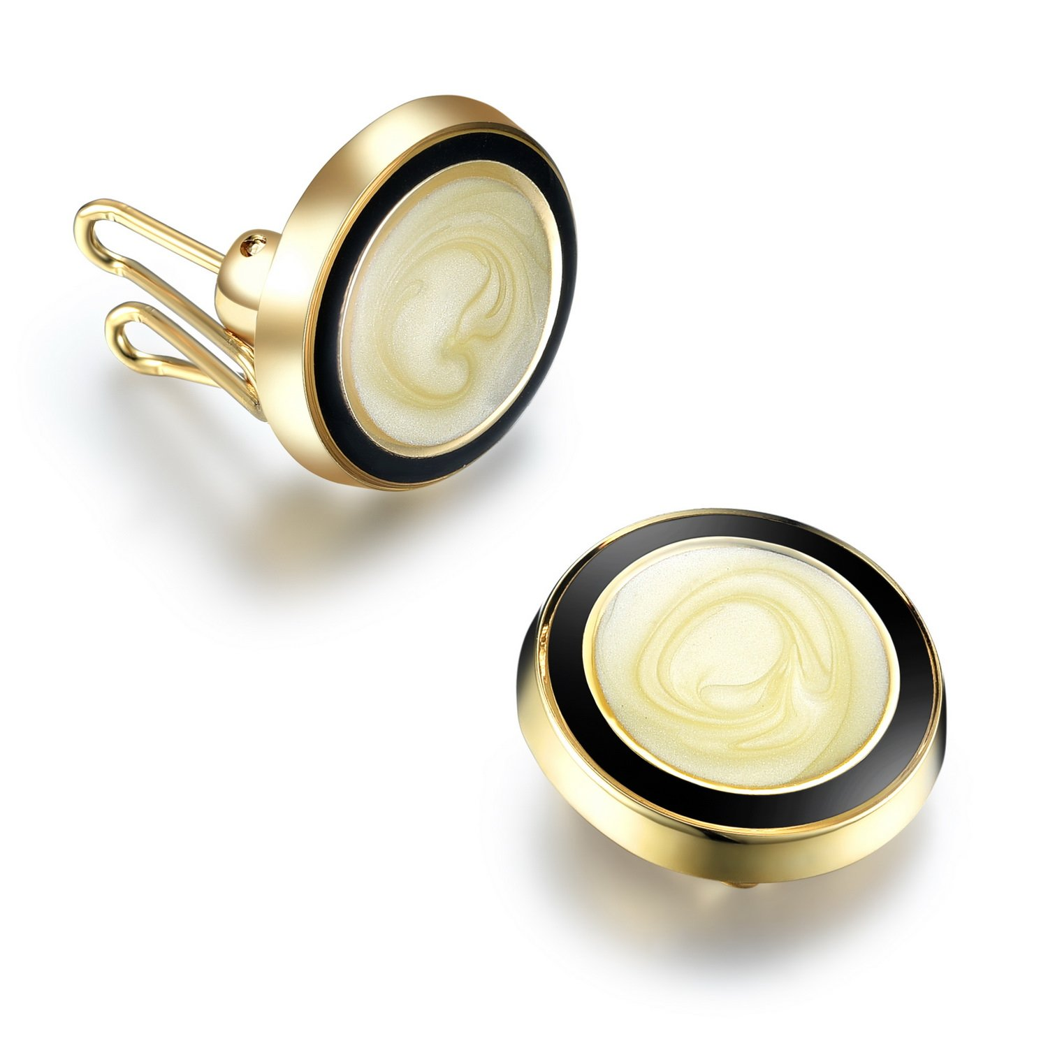 Gold Swirl Button Covers - Cuff Link Alternative for Shirts, Cuffs, Collars and Jackets (G-11 US)