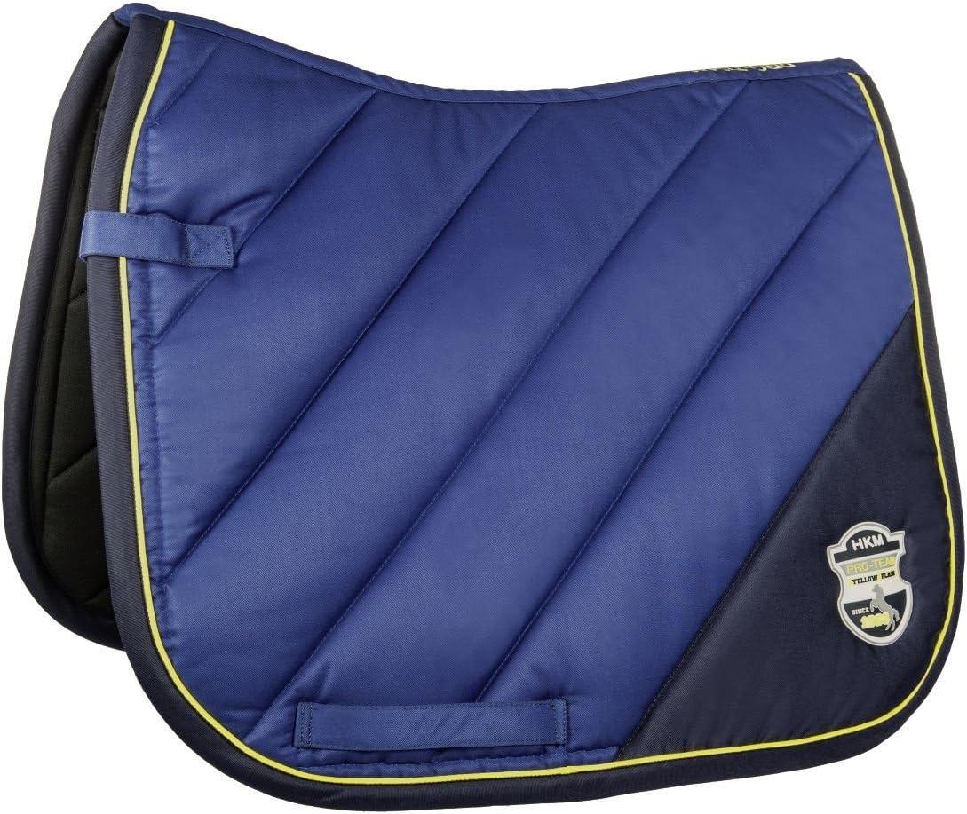 Hkm–Silla de Montar–Flash- Almohadillas Caballo equitación Ecuestre Doma Pony GP 7840, Corn Blue/Dark Blue
