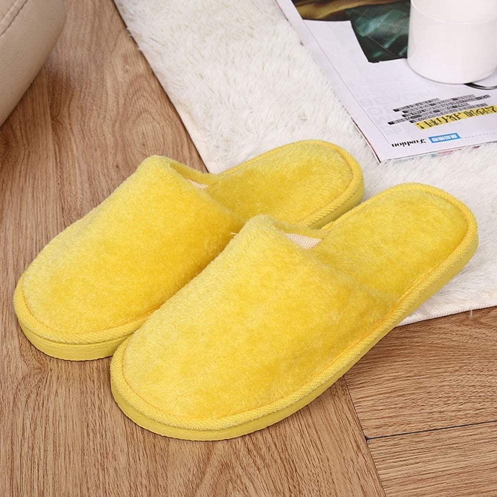 Goldweather Women Comfy Slip On Memory Foam Slippers Winter Warm Plush Soft Anti-Slip House Shoes