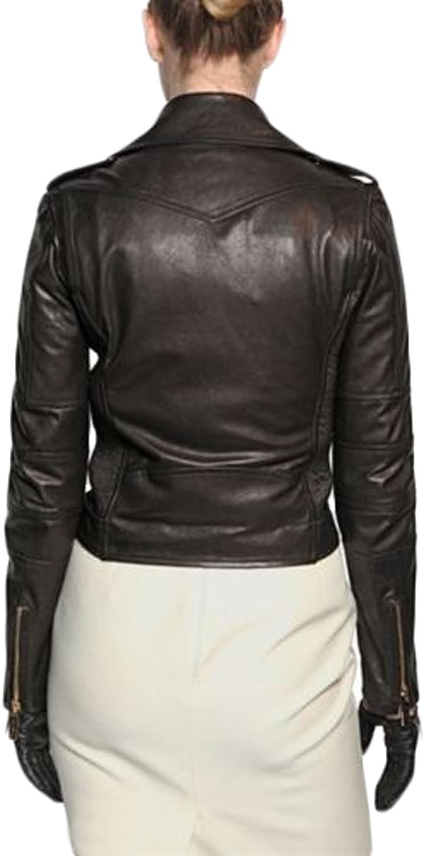 Women Leather Jacket Coat Genuine Lambskin Pure Leather Bomber Biker Jacket LTN452