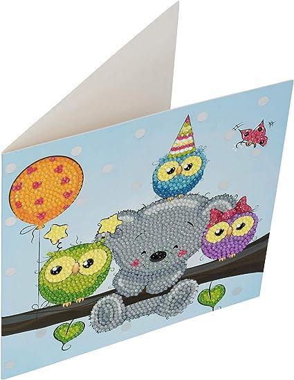 CRYSTAL ART Birthday Friends Card Kit 18 x 18 cm