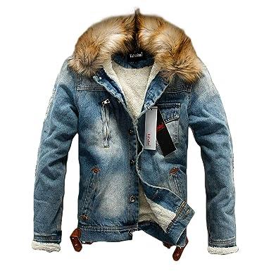 Luiyy Jacket Chaqueta De Vaquera Hombre de Cuello Alto Outerwear ...