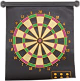Reverseable Magnetic Roll Up Dart Board With Darts Dartboard One side Target on Reverse
