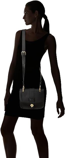 Cortefiel 4.G.M. Bolso Bandolera Militar, Mujer, Negro (Black), 14x29x37 cm (W x H x L): Amazon.es: Zapatos y complementos