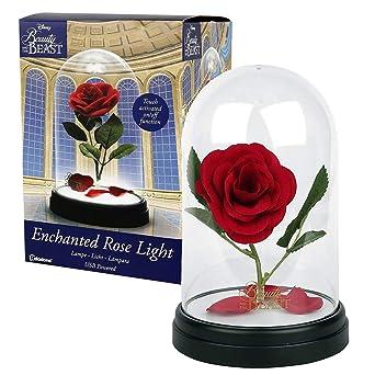 Paladone Lampe Usb La Belle Et La Bete Avec Rose Enchantee