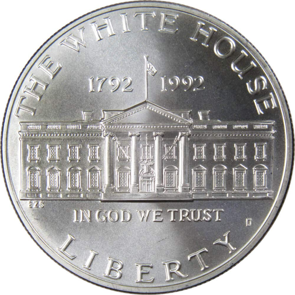 1992 White House Proof Silver Dollar Commemorative Coin Capsule