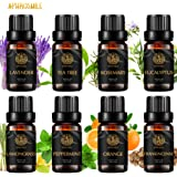 Aromatherapy Essential Oils Set, 100% Pure Essential Oils Kit - Peppermint, Orange, Eucalyptus, Lavender, Frankincense…