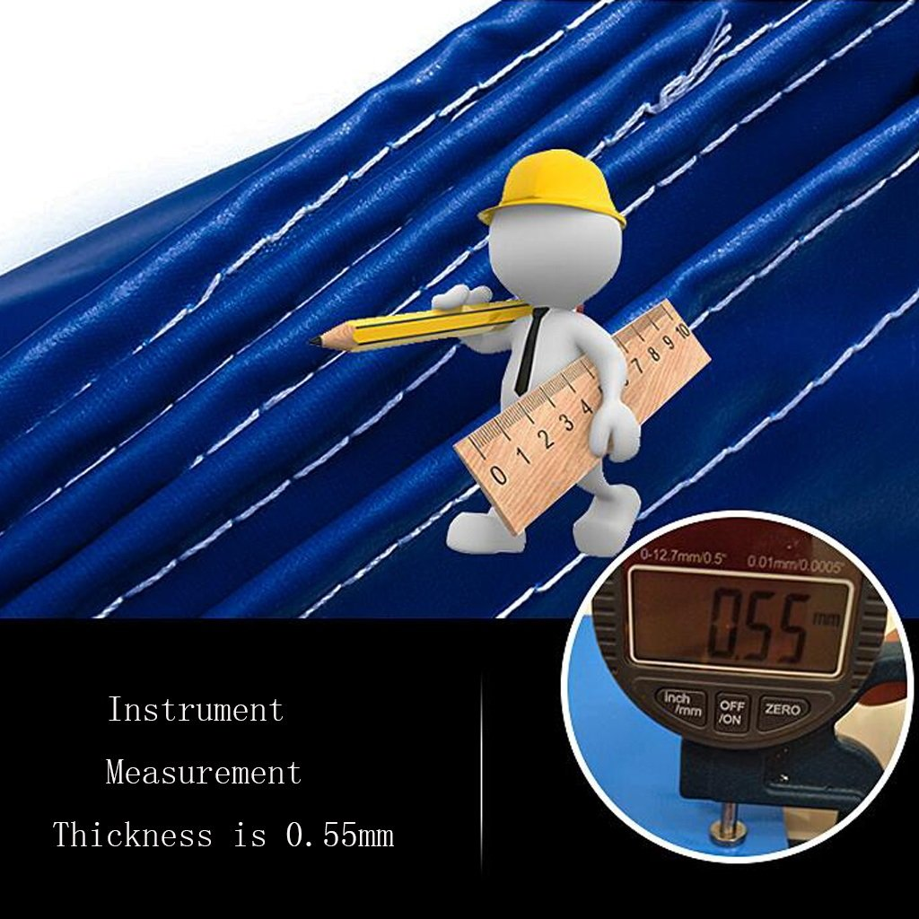 LIYFF-Wasserdicht Plane Abdeckplane Schutzplane Blaue Plane Waterproof Waterproof Waterproof Heavy Duty Plane Blatt für Camping Angeln Gartenarbeit, Dicke 0,5 mm, 500 g m² - 100% wasserdicht und UV-geschützt, 16 Größe B07PPNLQJB Zeltplanen Geschäft 34e7f2