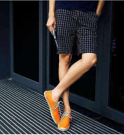 MYXUA Alta Calidad Hombre Alpargatas Zapatos Casuales Zapatos De Conducción Mocasines Zapatos Perezosos Versión Mejorada: Amazon.es: Ropa y accesorios