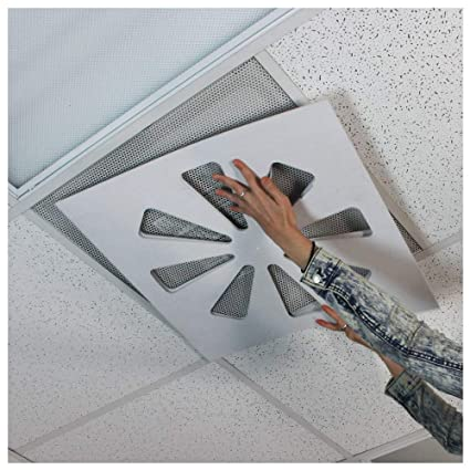 Wooden Shoe Designs Adjustable Air Conditioning Vent Cover - Air Deflector  for Office Ceiling Vents - Control Office Air - Vent Damper, AC Vent