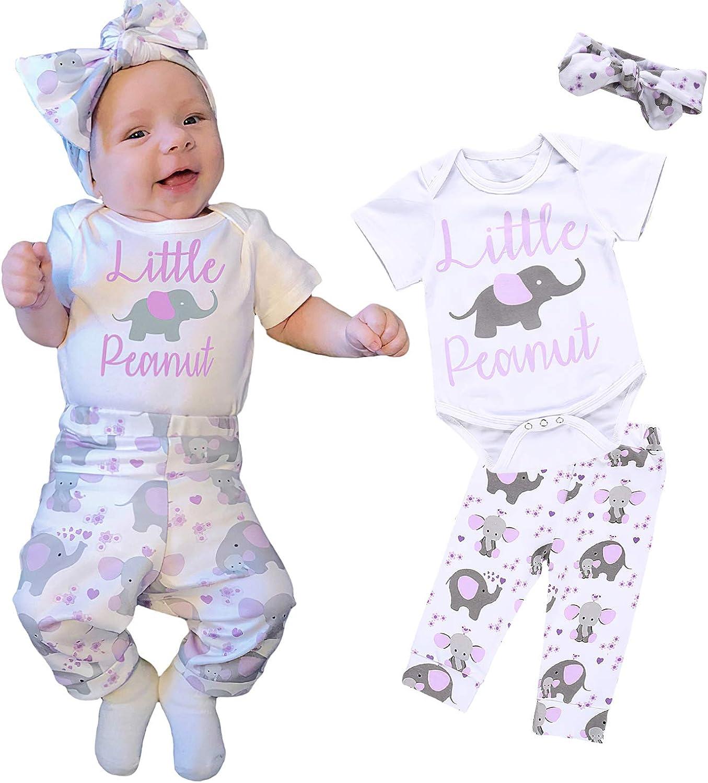 Cappello o Fascia per Capelli 3 Pezzi Set di Vestiti Pantaloni Yilaku Neonato 0-24 Mesi Maschio Neonato neonata Pagliaccetto
