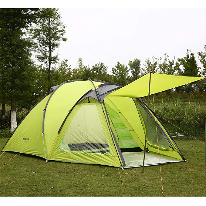 Sowin Alpine Camping Tent 4 Person Instant Pop Up Backpacking Waterproof Dome Easy Quick Setup Tents for Outdoor Hiking Include Carrying Bag