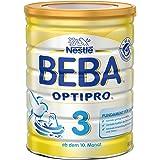 Nestlé BEBA OPTIPRO 3 Folgemilch ab dem 10. Monat, Pulver, 800 g Dose, wiederverschließbar mit praktischer Messlöffel-Ablage
