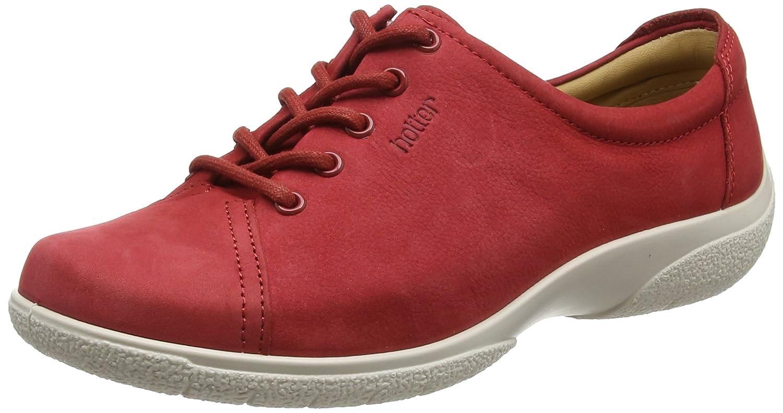 Hotter Dew EXF, Zapatos de Cordones Oxford para Mujer 41.5 EU|Rojo (Tango Red 080)