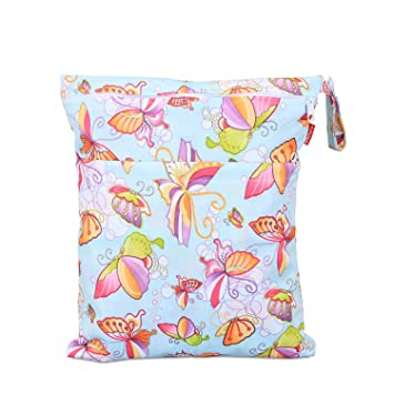 Large,Summer Style Ideal for Travel Daycare Damero Cloth Diaper Wet Dry Bag with Handle for Swimsuit Reusable and Water-Resistant Wet Clothes and More Swimming Pumping Parts Exercise