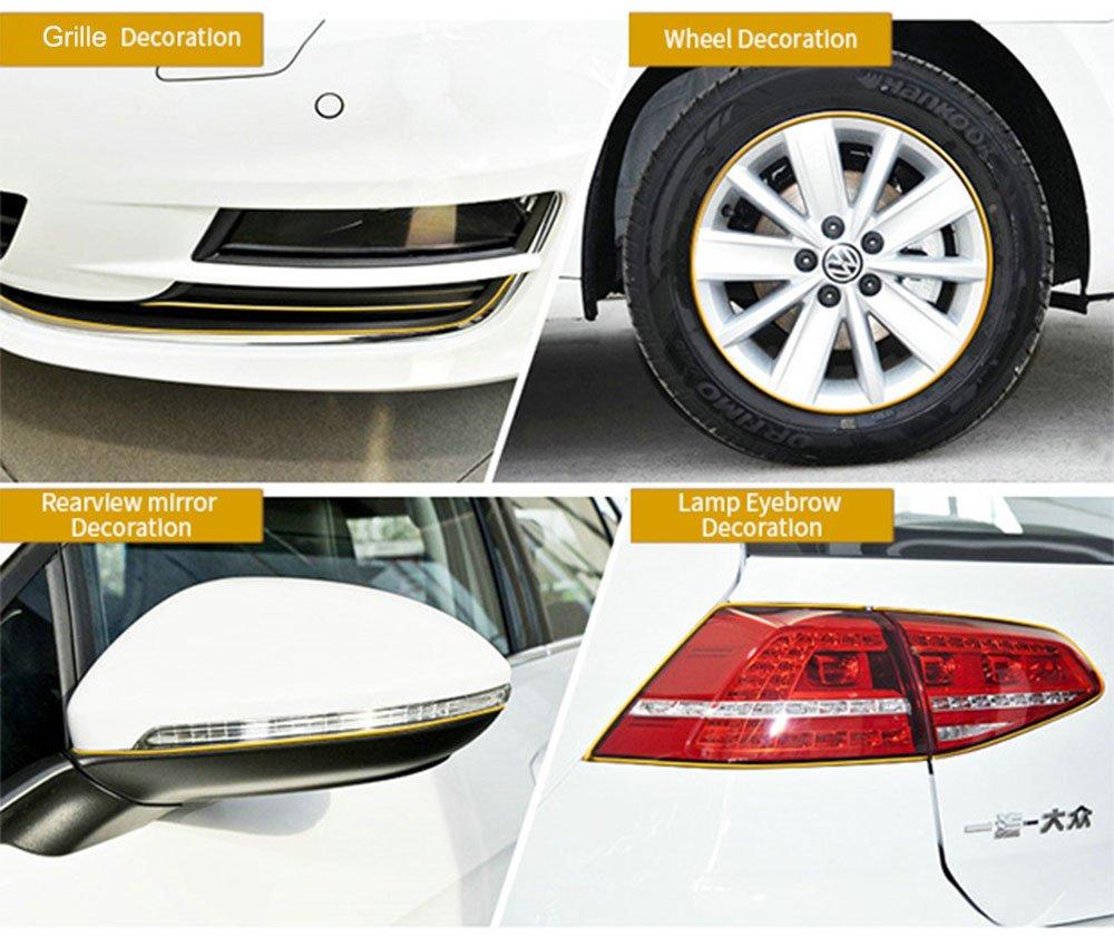 Amazon.com: ygmoner 26 ft electroplate estilo de coches ...