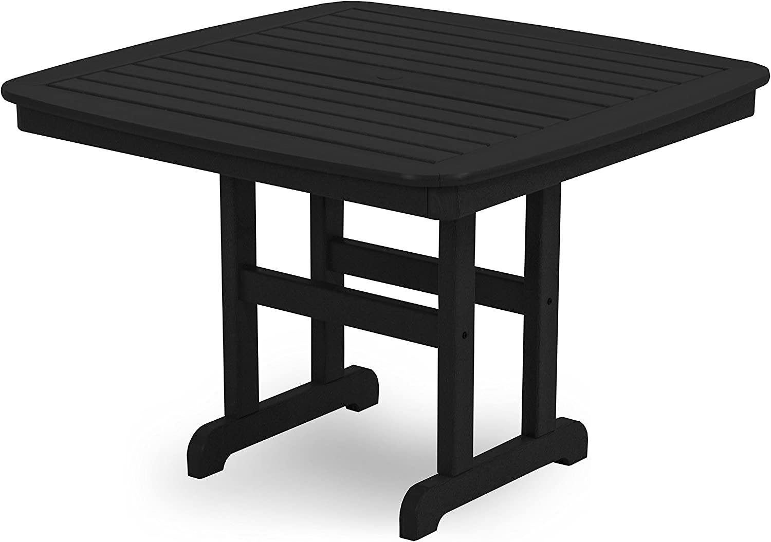 POLYWOOD NCT44BL Nautical Dining Table, 44-Inch, Black