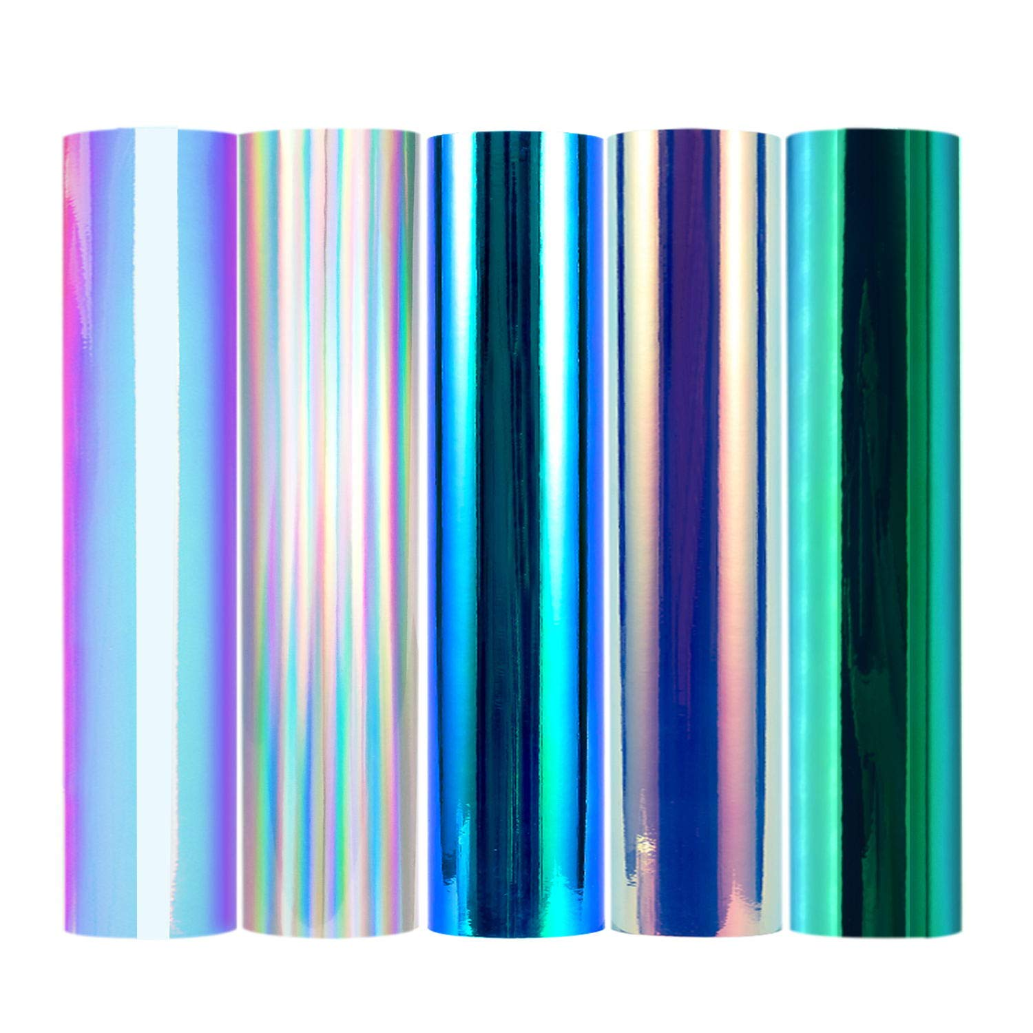 TECKWRAP Holographic Chrome Vinyl Sheets, Mystic Forest