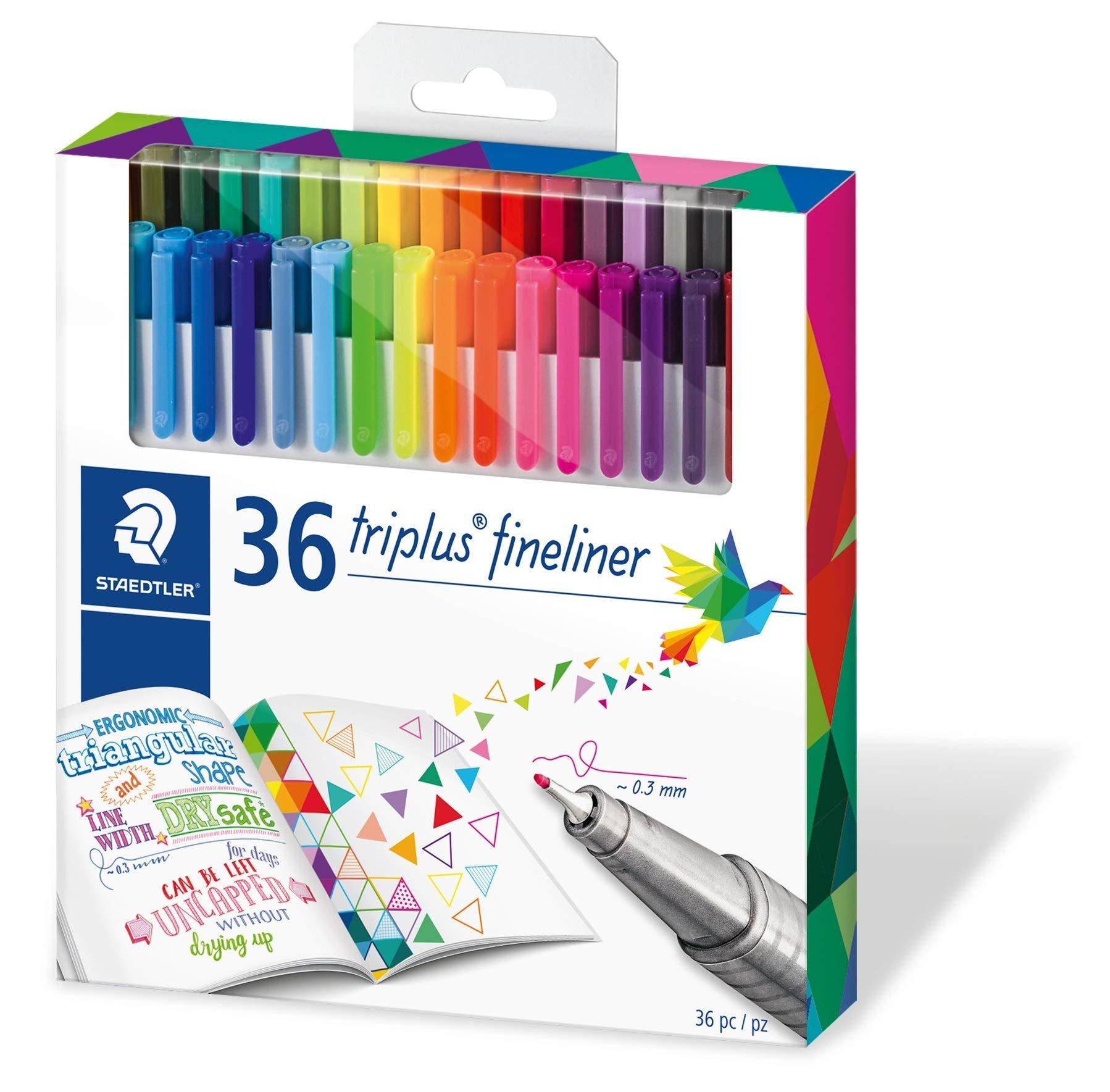 Staedtler Color Pen Set, Set of 36 Assorted Colors (Triplus Fineliner Pens) by STAEDTLER