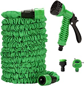 Tbrand 50ft Extendable Garden Magic Hose,with 7 in 1 Spray Mode,Used for Watering,Car Washing,Pet Washing