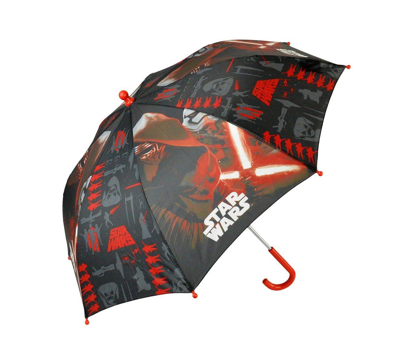 SWE7005 Ombrello da pioggia per bambino STAR WARS 57 cm rosso e nero. MEDIA WAVE store ®